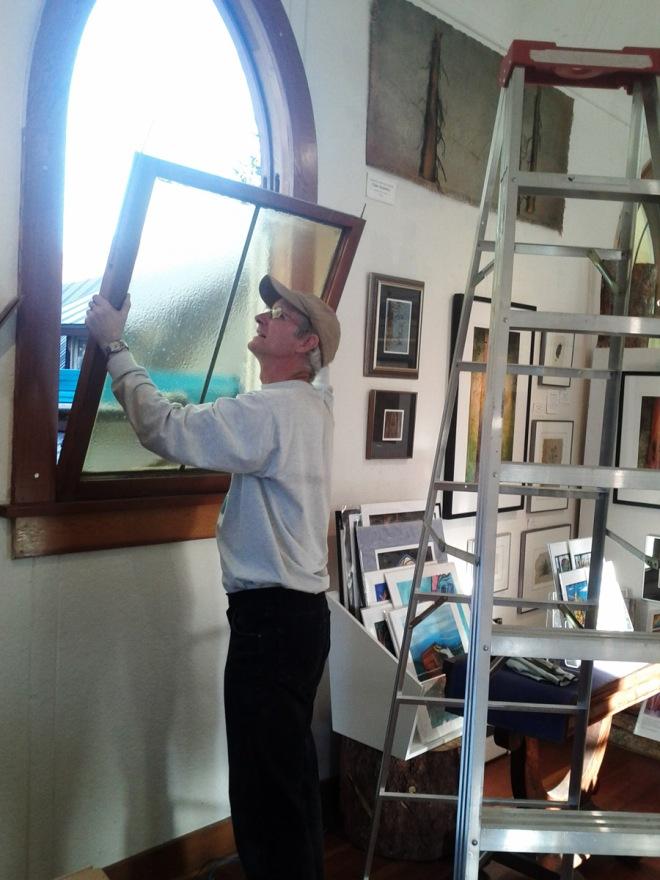 Bill pulling out a rectangular window.