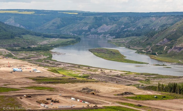 Canada, British Columbia, Peace River Valley, Site-C construction site,