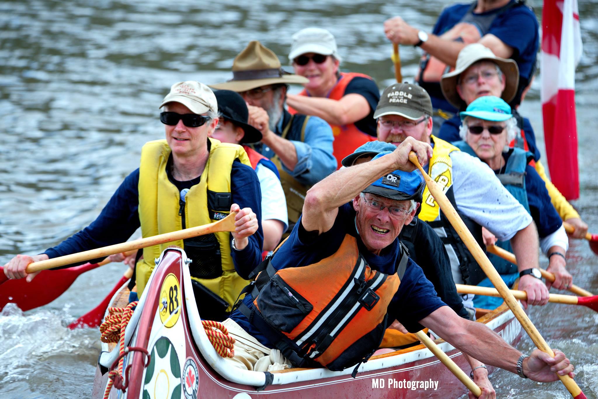 John braces canoe