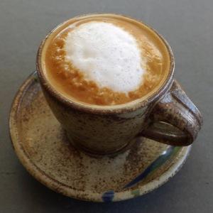 Organic fair trade cappuccino.