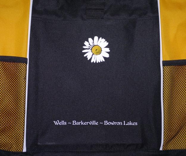 Tote bag printed at Amazing Space (closeup).