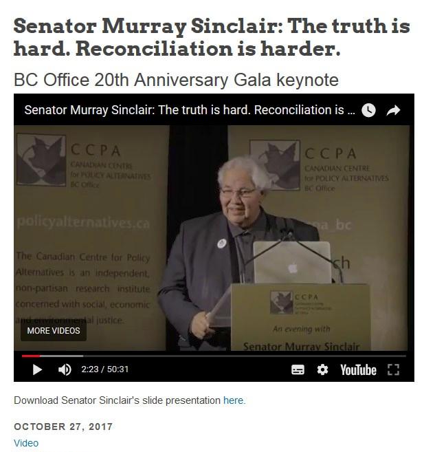 Sen Sinclair at CCPA Gala 2017