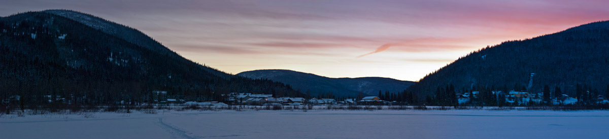 Wells winter sundown